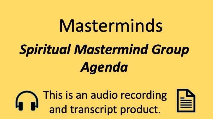 Spiritual Mastermind Principle